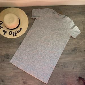 cos gray sweater shirt dress crinkle size S